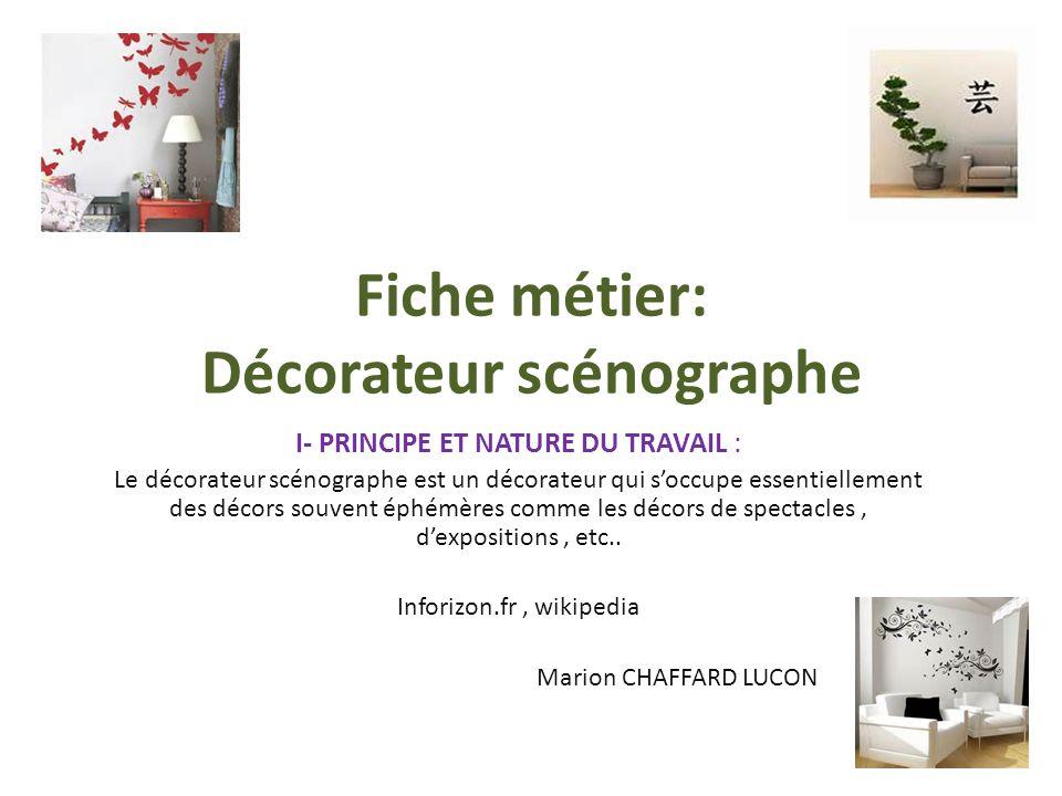Fiche metier decoratrice scenographe - Decoratrice d interieur fiche metier ...