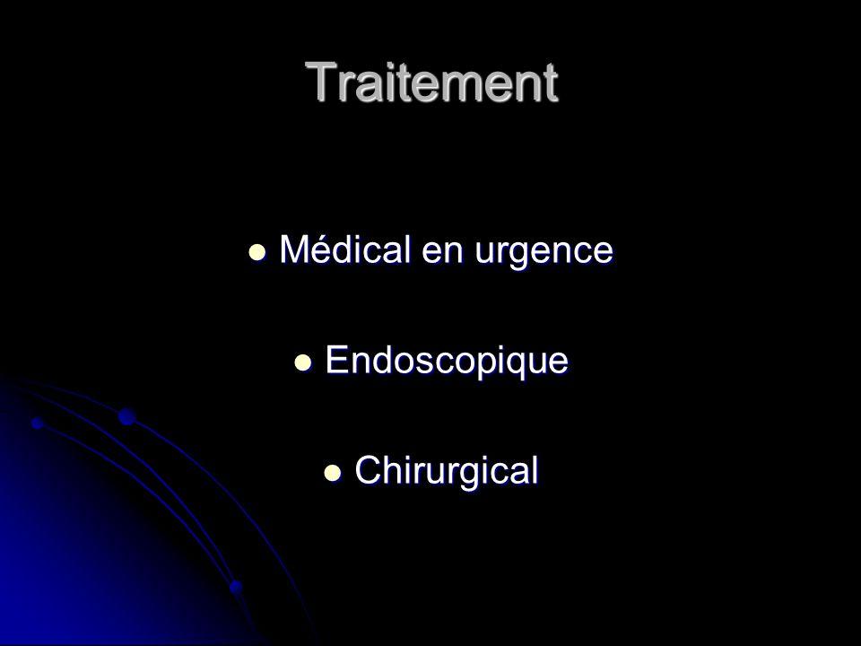 Traitement Médical en urgence Endoscopique Chirurgical