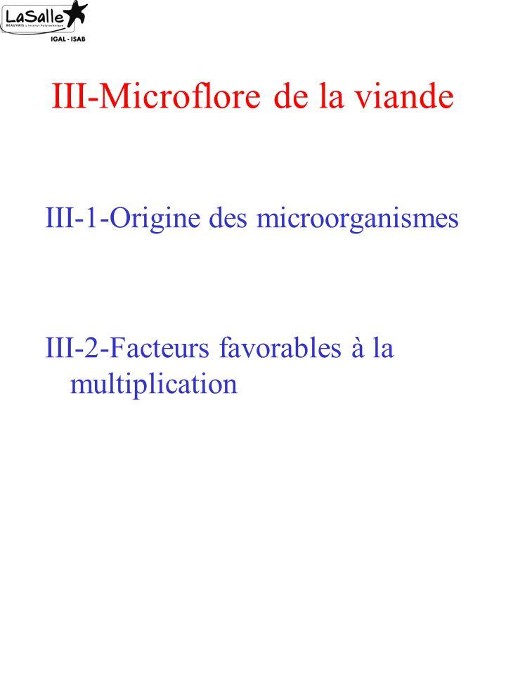 III-Microflore de la viande