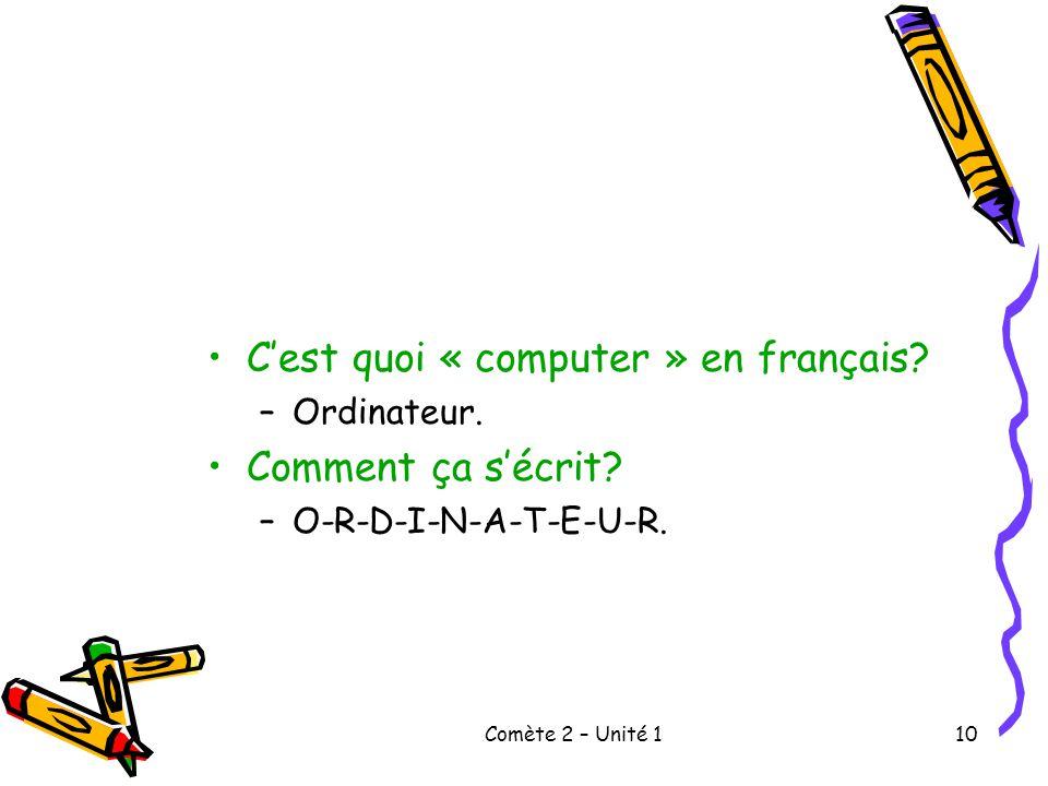 C'est quoi « computer » en français Comment ça s'écrit