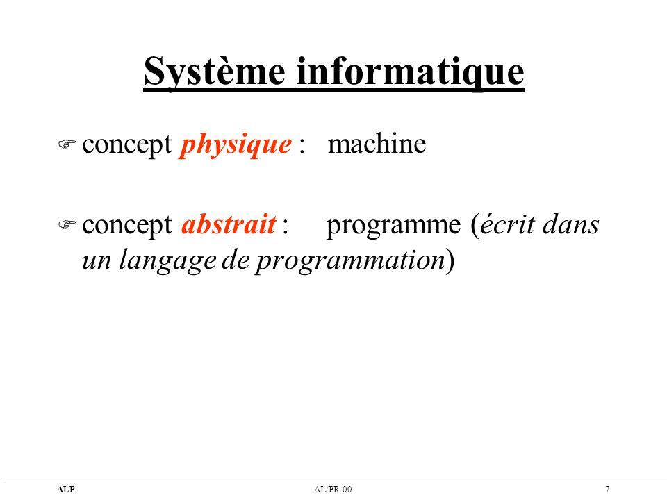 Système informatique concept physique : machine