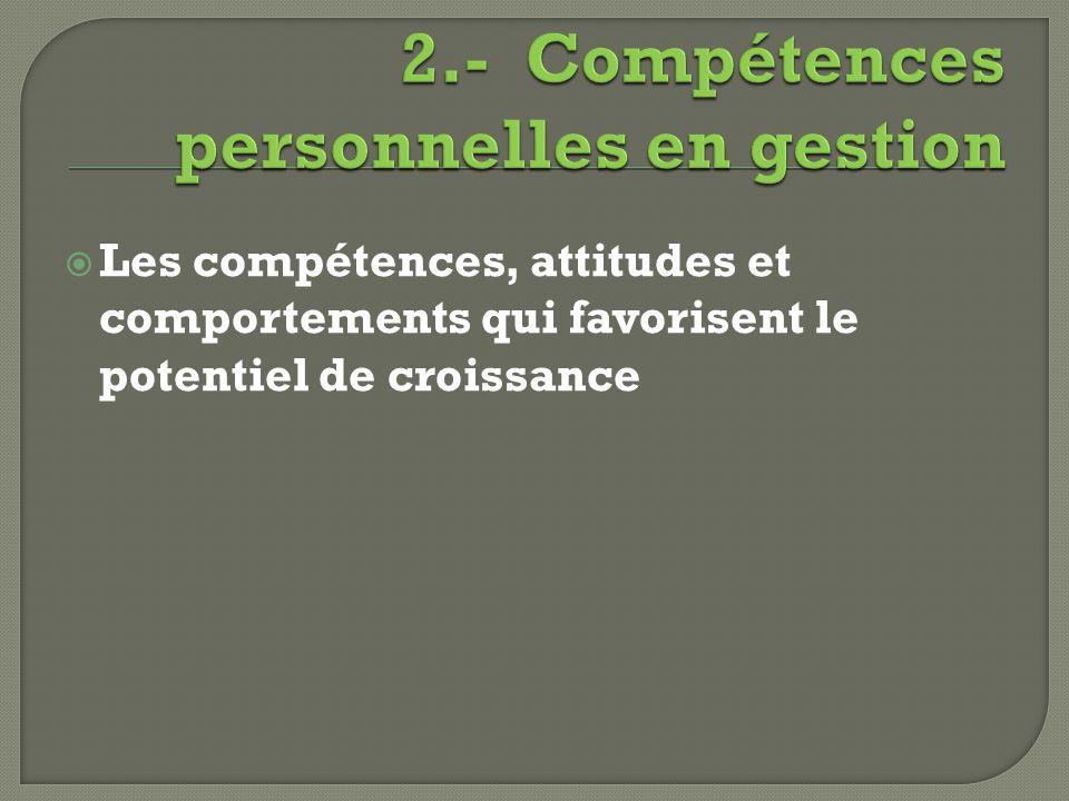 2.- Compétences personnelles en gestion
