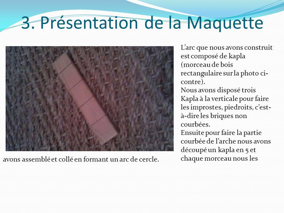 3. Présentation de la Maquette