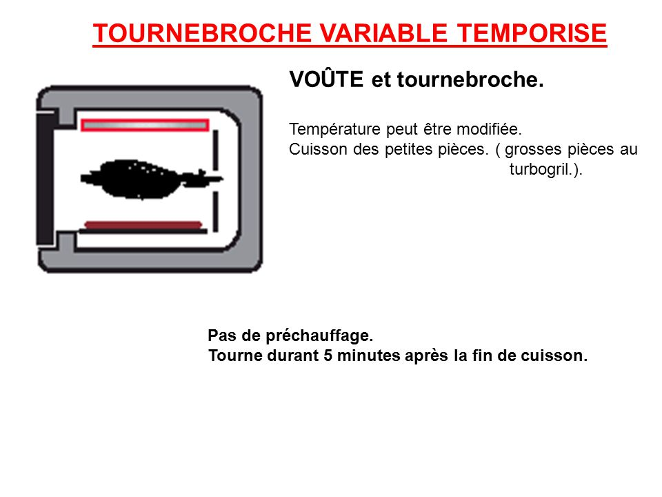 TOURNEBROCHE VARIABLE TEMPORISE