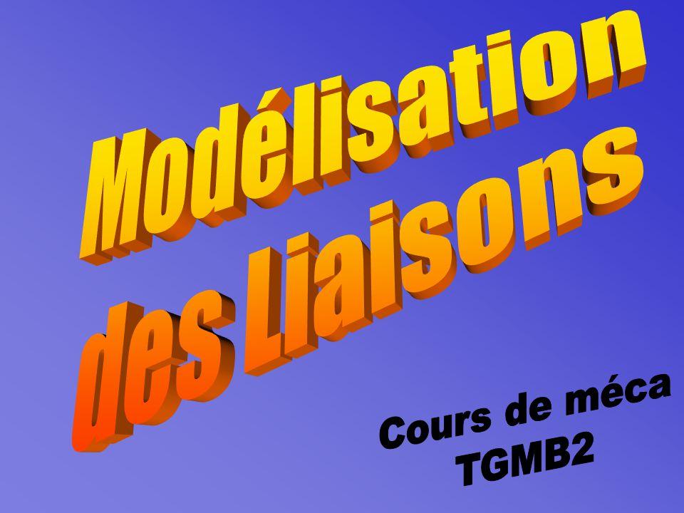 Modélisation des Liaisons Cours de méca TGMB2