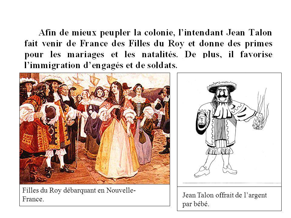 Filles du Roy débarquant en Nouvelle-France.
