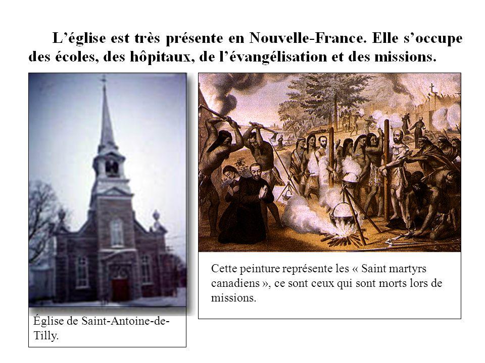 Cette peinture représente les « Saint martyrs canadiens », ce sont ceux qui sont morts lors de missions.