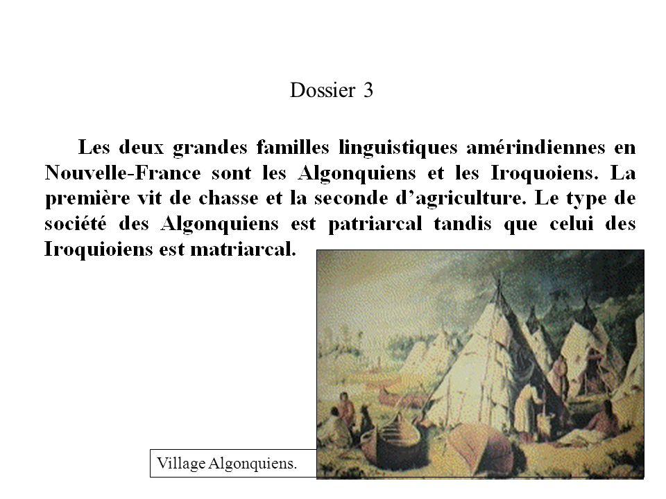 Dossier 3 Village Algonquiens.