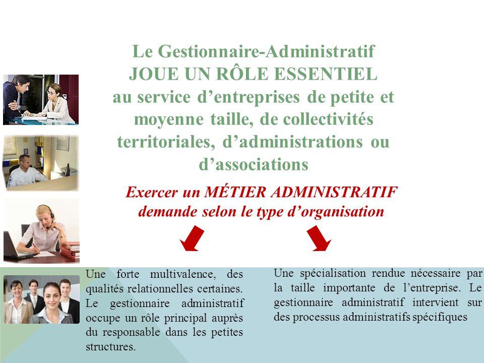 Le Gestionnaire-Administratif