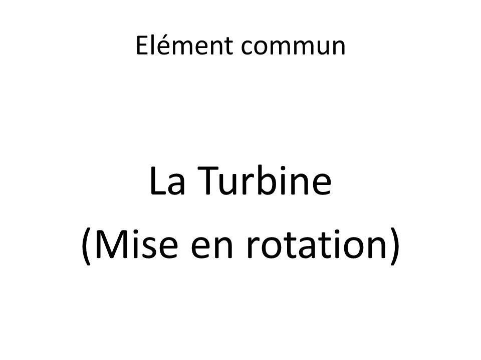 La Turbine (Mise en rotation)