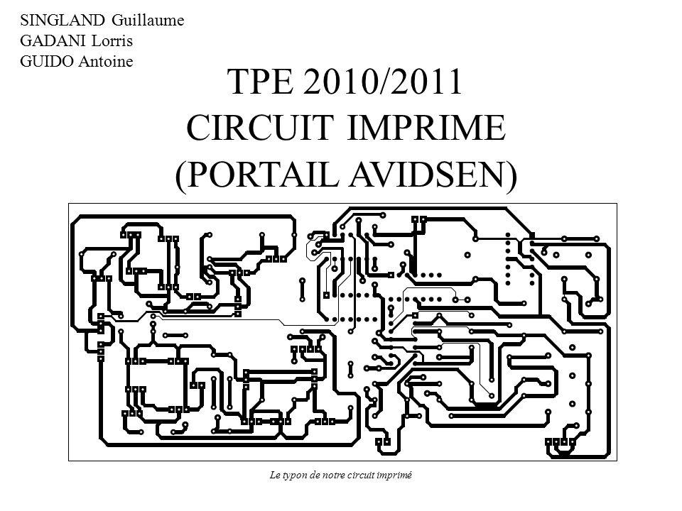 le typon de notre circuit imprim u00e9