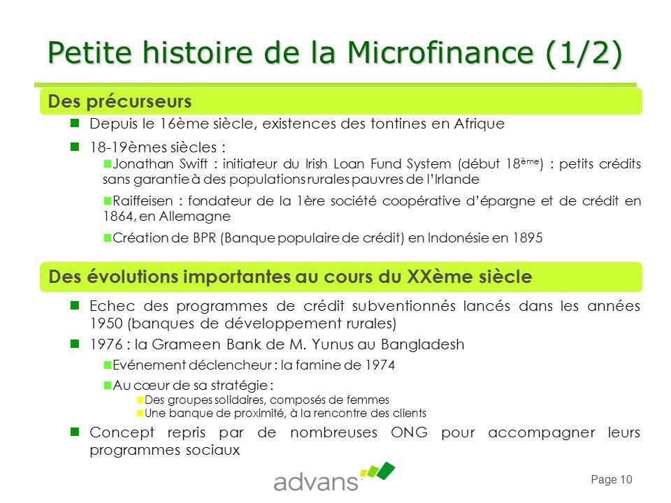 histoire de la microfinance pdf