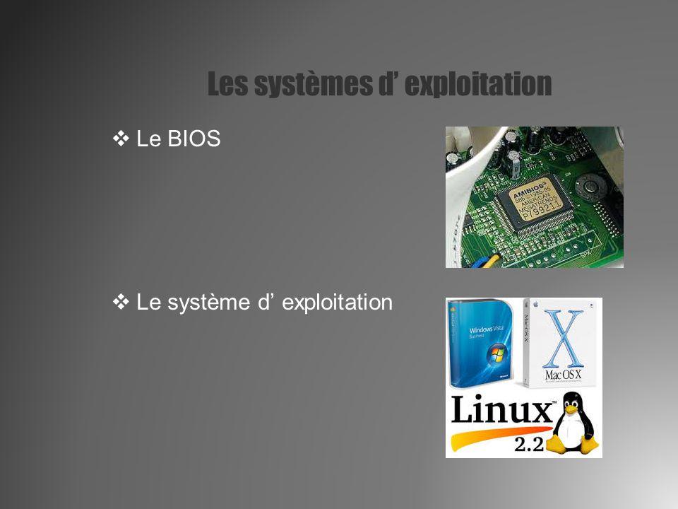 Les systèmes d' exploitation