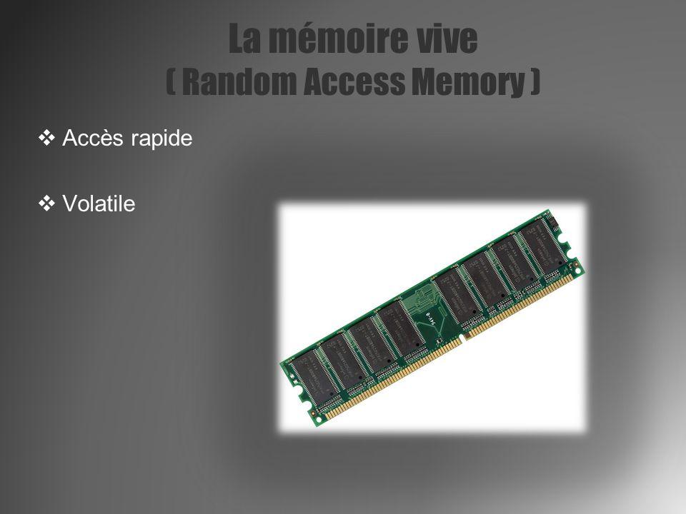 La mémoire vive ( Random Access Memory )