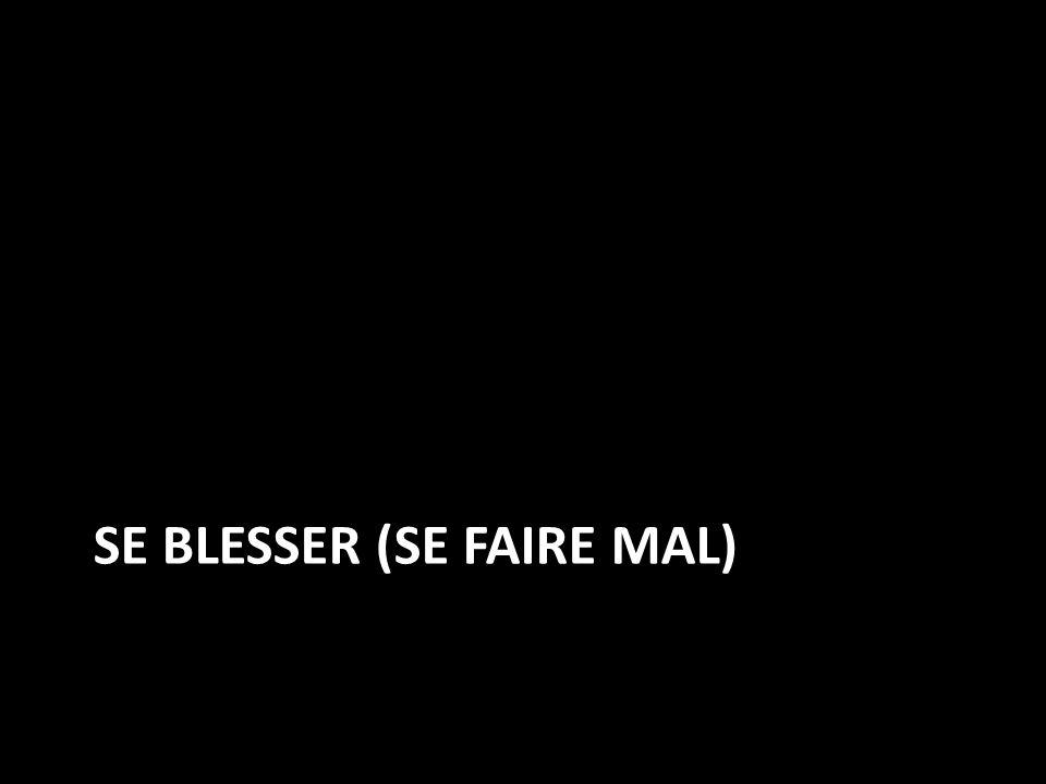 Se Blesser (se faire mal)
