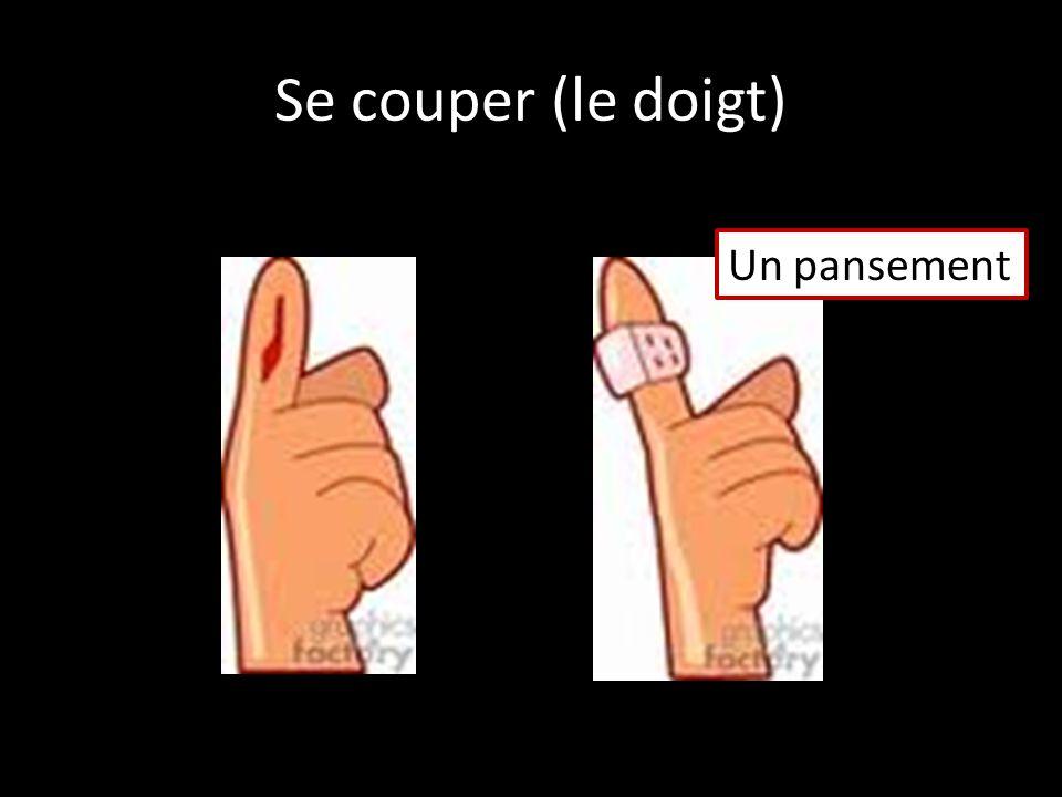Se couper (le doigt) Un pansement