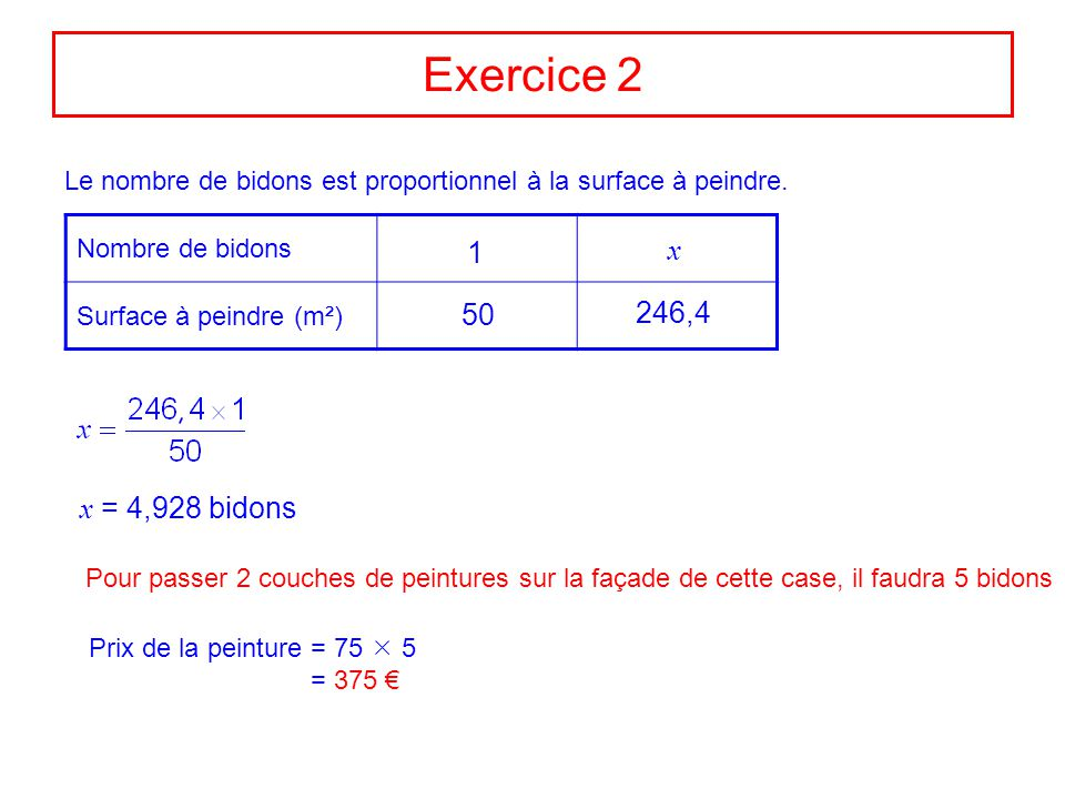 Great Exercice With Calcul Surface Peindre With Calcul Surface Facade Maison .