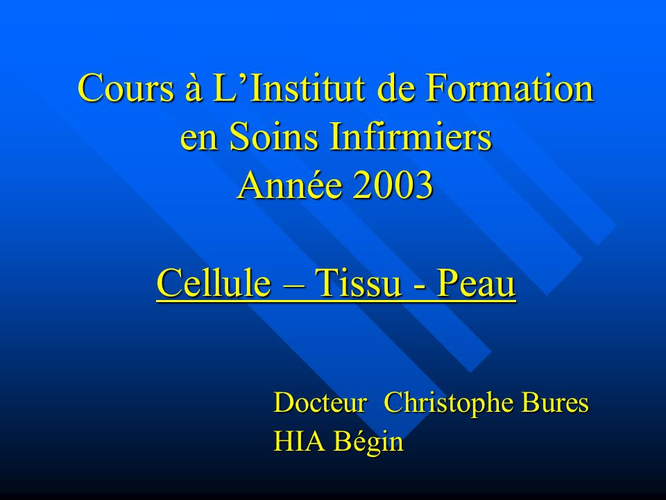 cours soins infirmiers