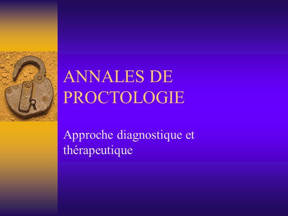 ANNALES DE PROCTOLOGIE