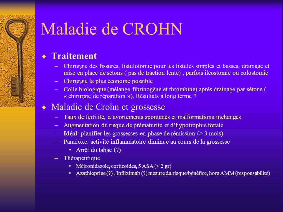 Maladie de CROHN Traitement Maladie de Crohn et grossesse