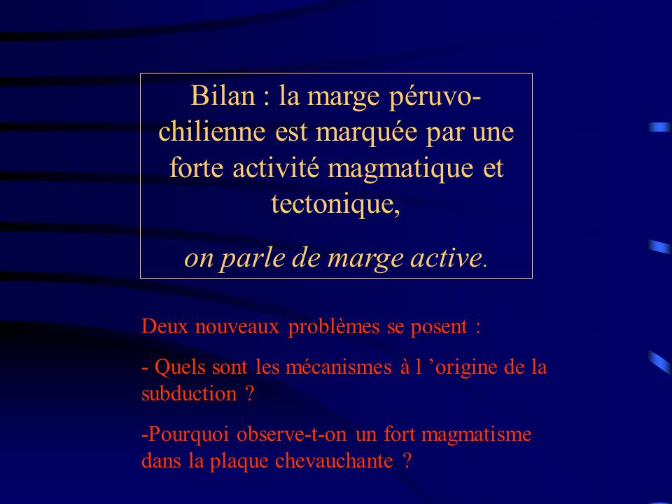 on parle de marge active.