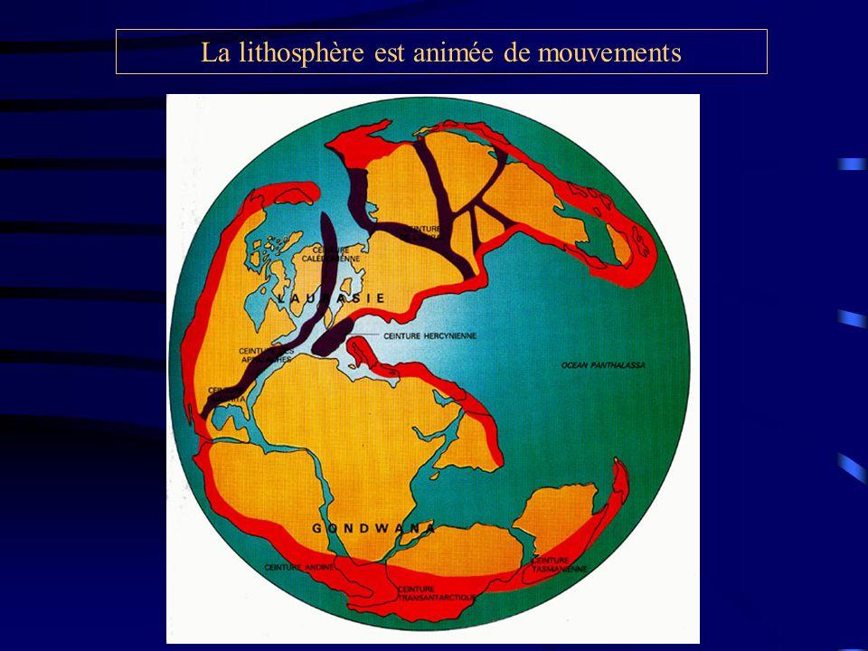 La lithosphère est animée de mouvements