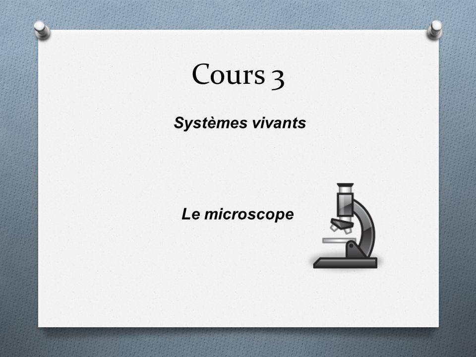 Systèmes vivants Le microscope