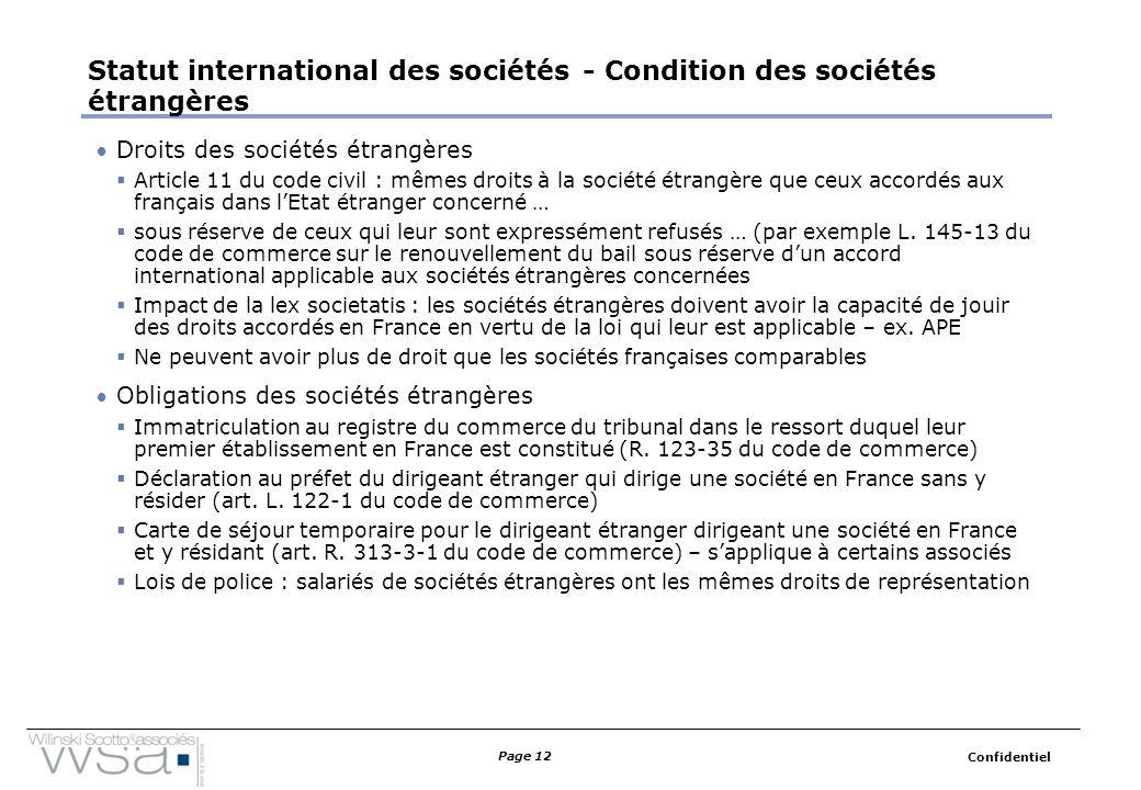 Pratique du droit des affaires droit international des - Statut chambre de commerce ...