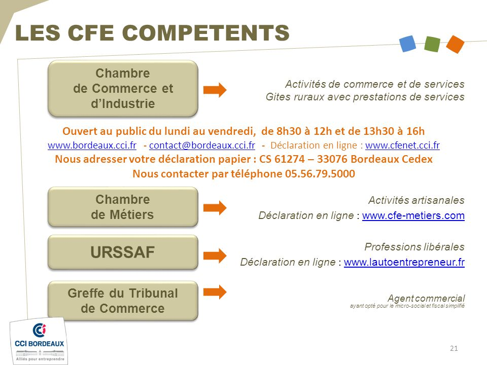 L auto entrepreneur entreprendre avec la cci de bordeaux - Chambre de commerce et de l industrie de paris ...