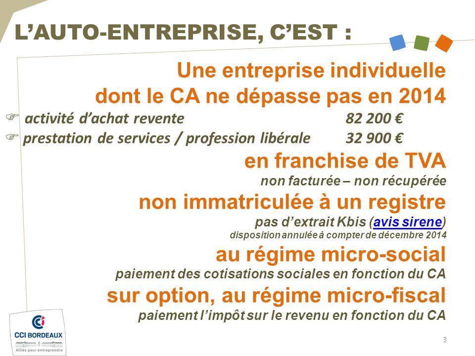 L'Auto Entrepreneur Entreprendre Avec La Cci De Bordeaux - Ppt