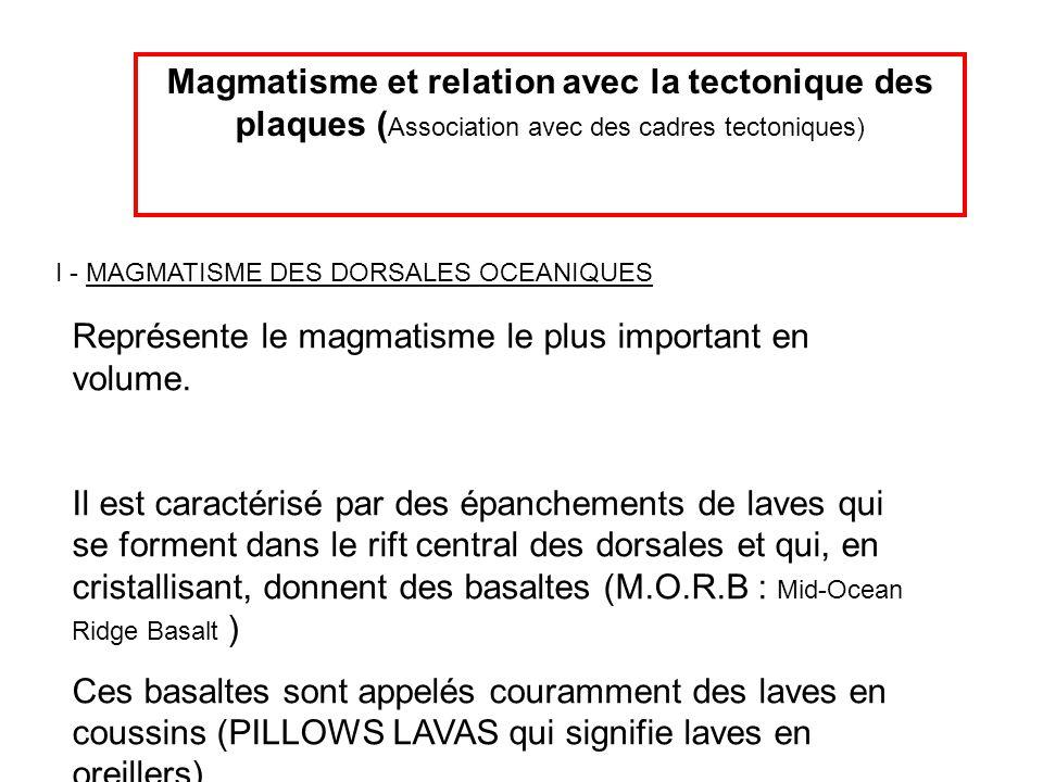 Représente le magmatisme le plus important en volume.