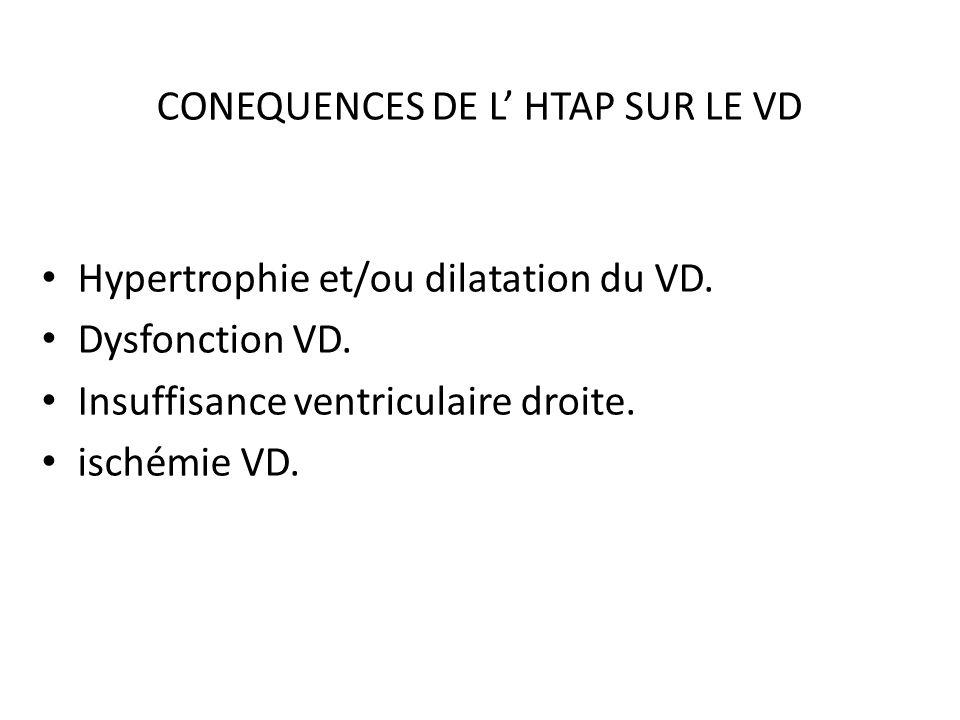 CONEQUENCES DE L' HTAP SUR LE VD