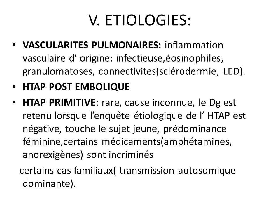 V. ETIOLOGIES: