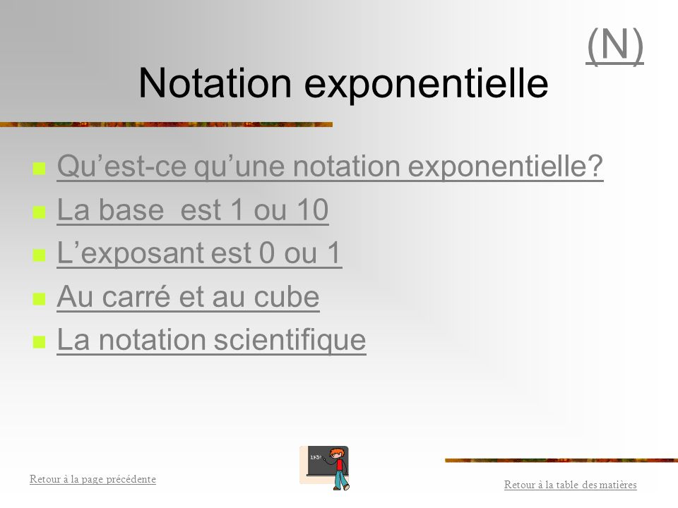 Notation exponentielle