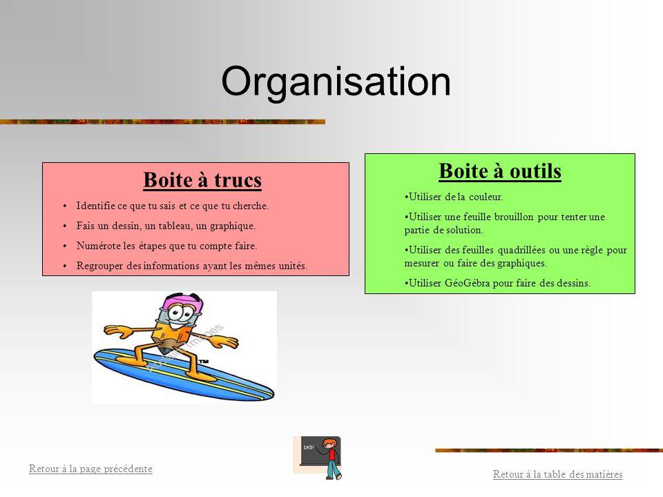Organisation Boite à outils Boite à trucs Utiliser de la couleur.
