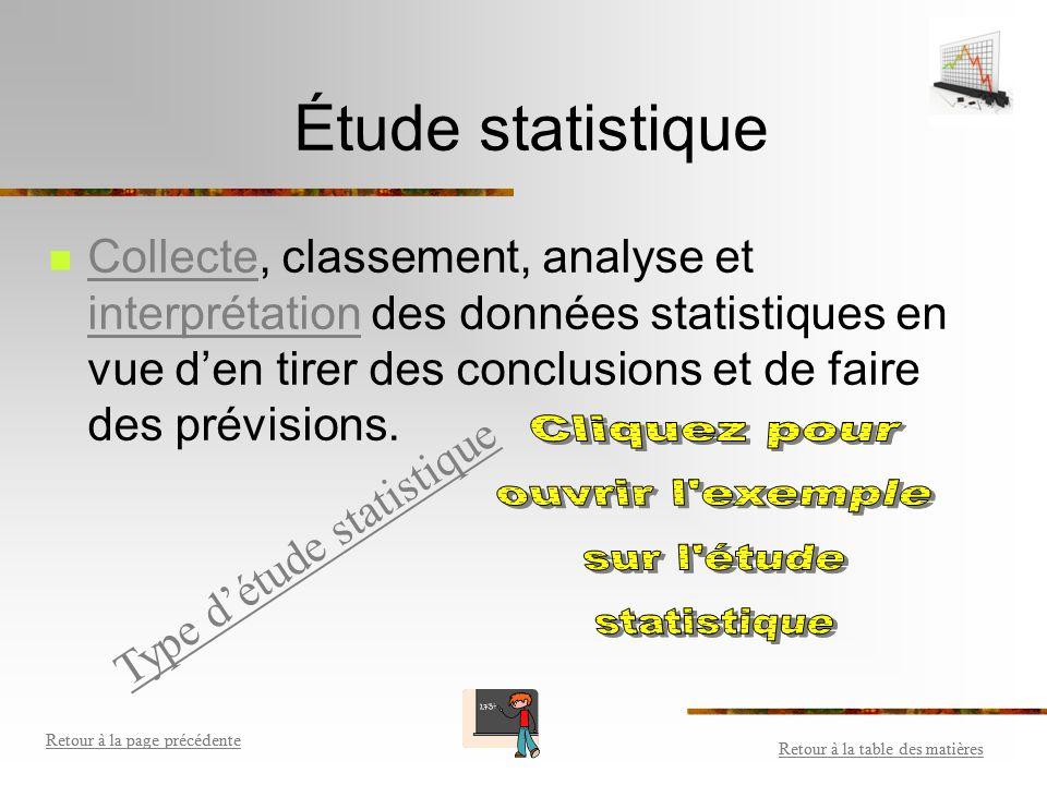 Type d'étude statistique