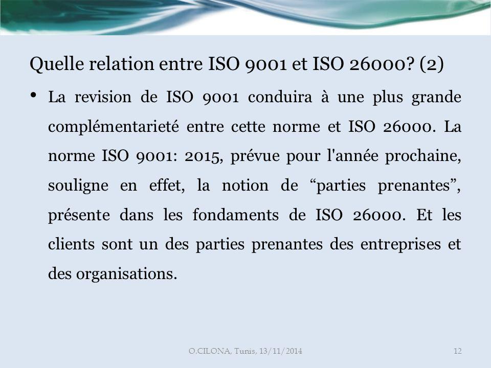 Quelle relation entre ISO 9001 et ISO 26000 (2)