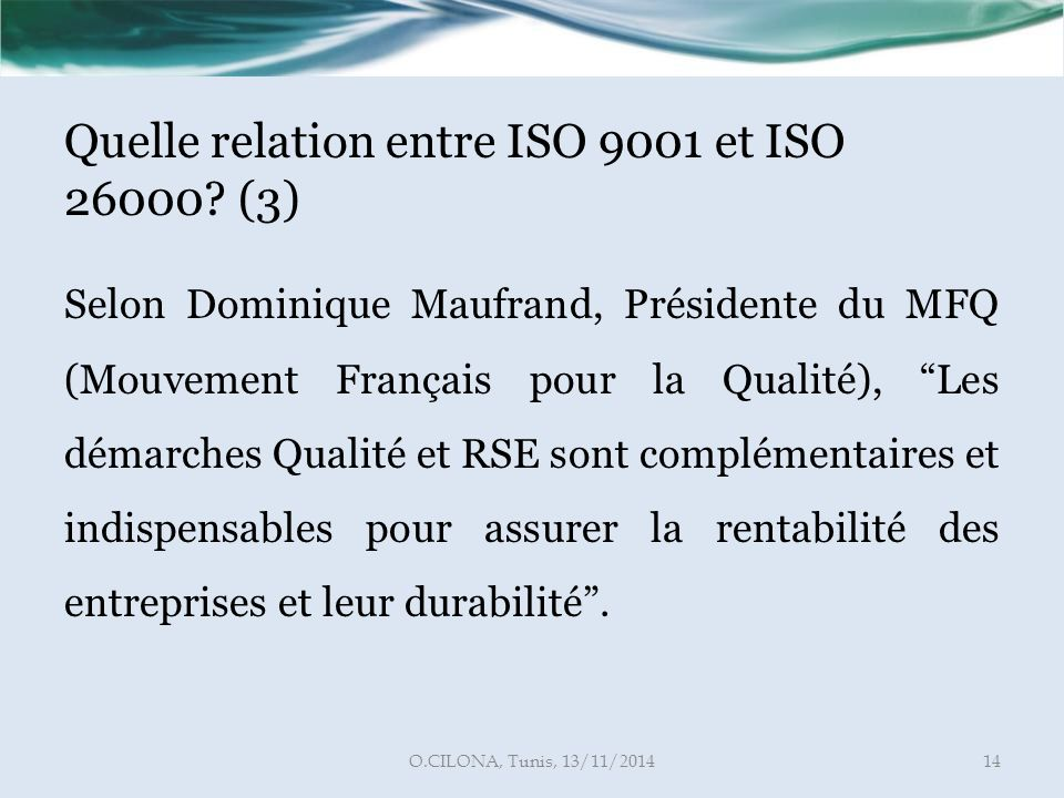 Quelle relation entre ISO 9001 et ISO 26000 (3)