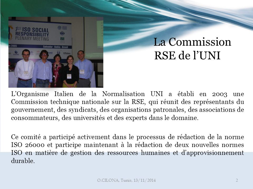 La Commission RSE de l'UNI