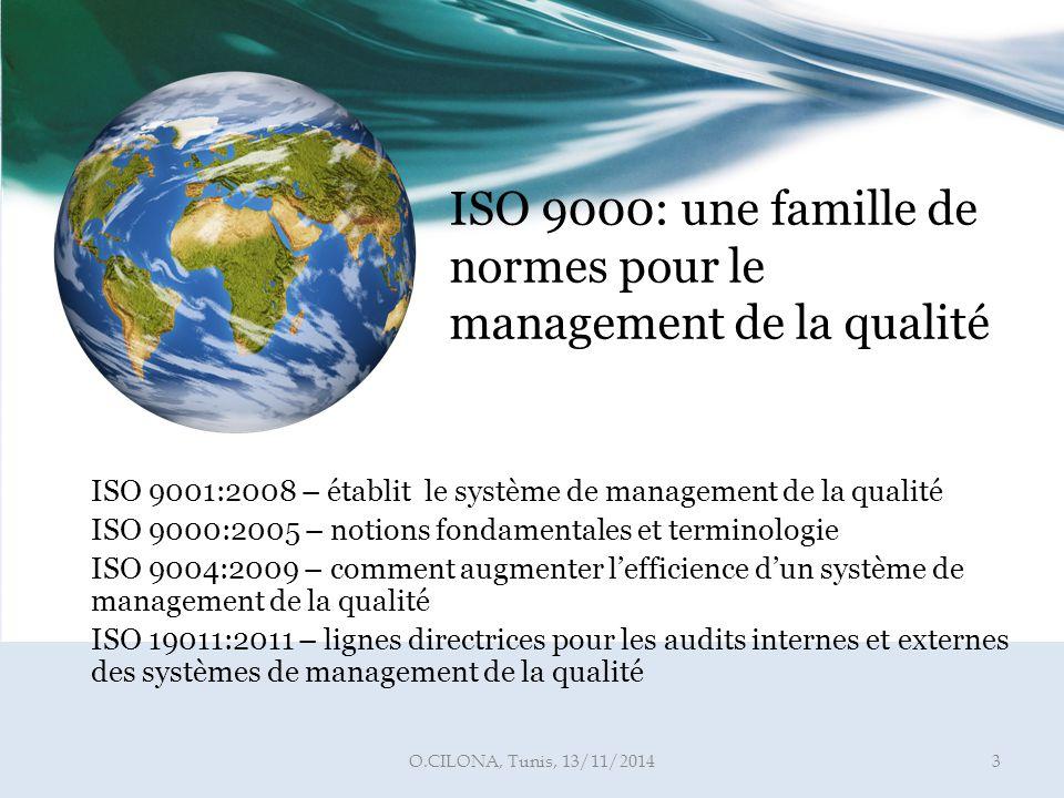 ISO 9000: une famille de normes pour le management de la qualité
