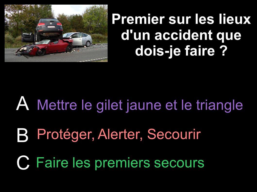 Premier sur les lieux d un accident que dois-je faire