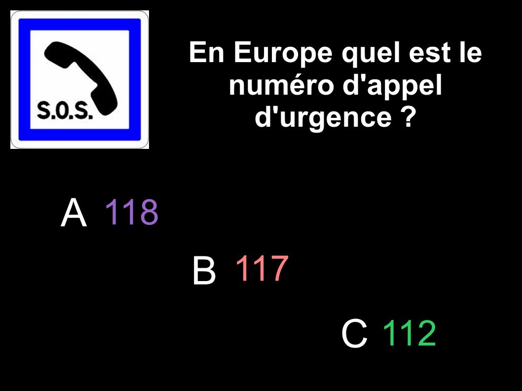En Europe quel est le numéro d appel d urgence