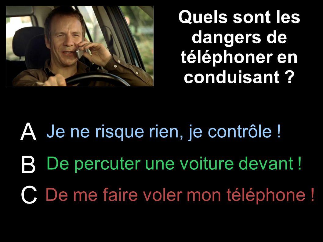 Quels sont les dangers de téléphoner en conduisant