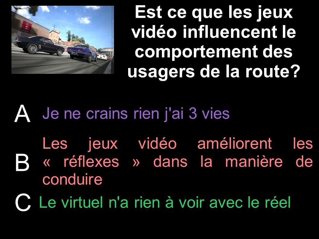 Est ce que les jeux vidéo influencent le comportement des usagers de la route