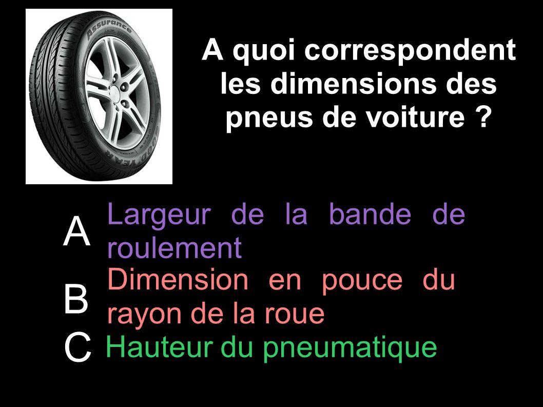 A quoi correspondent les dimensions des pneus de voiture