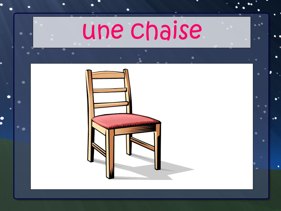 Your Main Point une chaise Your Sub Points