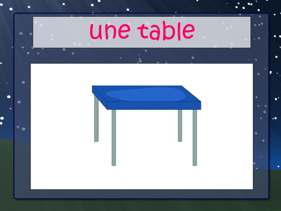 Your Main Point une table Your Sub Points