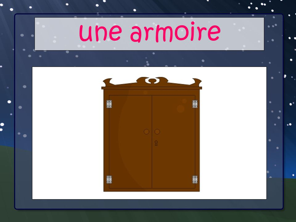 Your Main Point une armoire Your Sub Points