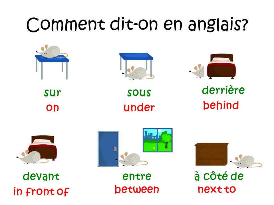 comment on dit a en anglais