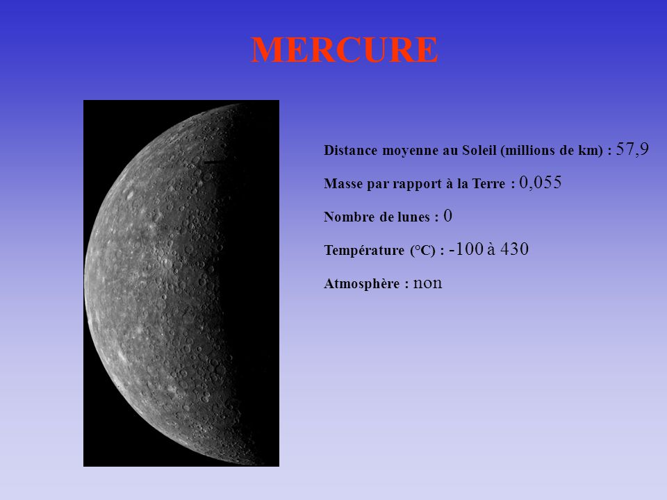 distance terre mercure